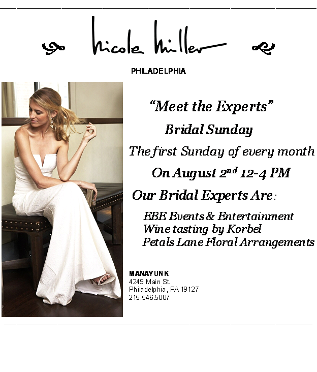 Korbel will also be hosting a wine tasting as part of the store 39s Bridal